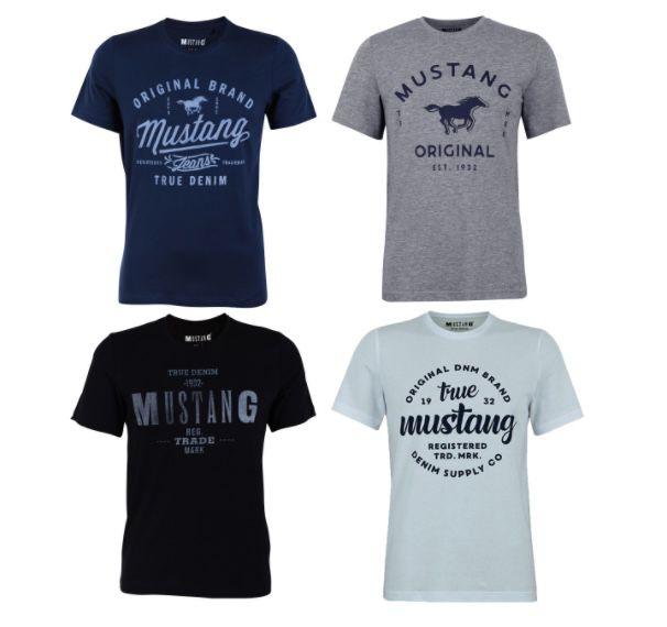 8er Pack Mustang Herren T-Shirt mit Frontprint und Rundhalsausschnitt für 53,98€ (statt 72€) – nur 6,75€ pro Shirt