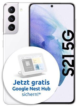 Samsung Galaxy S21 5G mit 256GB (!) + Google Nest Hub für 49€ + Vodafone Allnet Flat mit 15GB LTE für 34,99€ mtl.