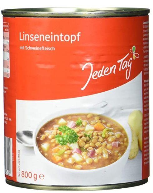 5x Jeden Tag Linsentopf (je 800 g) für 3,96€ (statt 8€)   Prime Sparabo