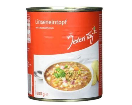 5x Jeden Tag Linsentopf (je 800 g) für 4€ (statt 8€) – Prime
