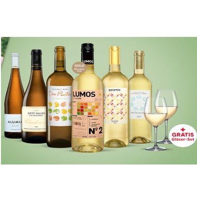 6 Flaschen Weißwein inkl. 2x Schott Zwiesel Weingläser ab 24,99€ (statt 63€)