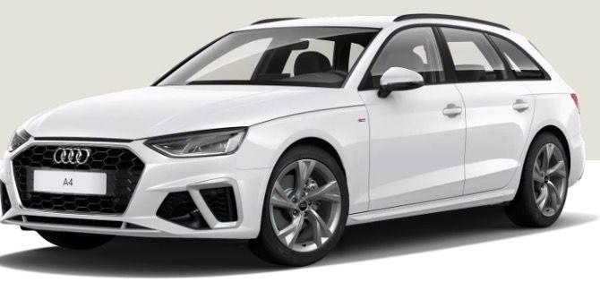 Gewerbe: AUDI A4 Avant S line 35 TFSI mit Schaltgetriebe und 150PS ab 209€ netto   LF 0,69