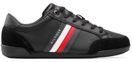 Tommy Hilfiger Corporate Material Mix Cupsole Sneaker in Schwarz für 63,85€ (statt 80€)
