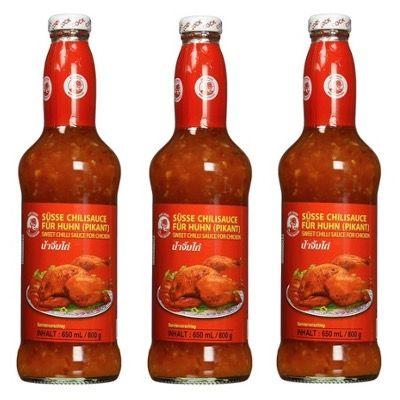 4x Cock Süße Chilisauce mittlere Schärfe thailändisch 650ml für 8,57€ (statt 15€) – Prime Sparabo