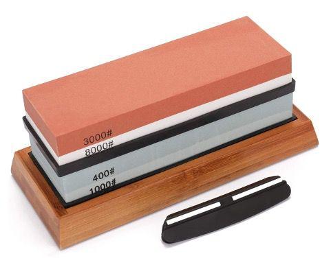 KKmoon Wetzstein Set mit 400/1000 & 3000/8000 Körnung mit Sockel für 21,82€ (statt 30€)