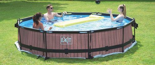 EXIT Stone Pool Durchmesser 360x76cm inkl. Filterpumpe in Grau für 159,99€ (statt 209€)