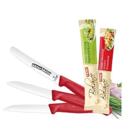 3x Tomatenmesser und 2x Gemüsemesser und 2x Salatdressing für 15,31€