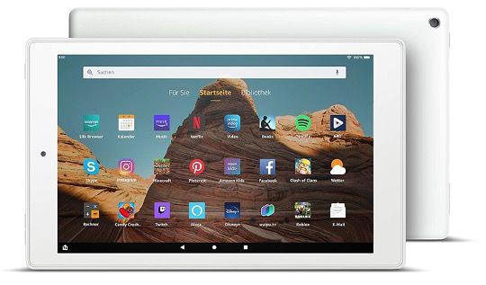FireHD10 Tablet 9. Gen. 10,1Zoll FullHD in Weiß mit 32GB und Werbung für 99,99€ (statt 150€)
