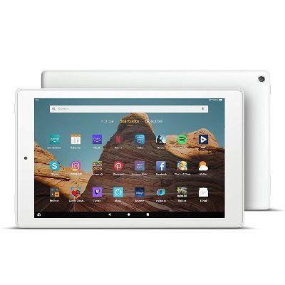 FireHD10-Tablet 9. Gen. 10,1Zoll FullHD in Weiß mit 32 GB und Werbung für 99,99€ (statt 150€)
