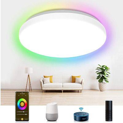 Etersky Smart LED-Deckenleuchte 2000LM 24W RGBW IP54 mit Alexa & Google für 34,99€ (statt 50€)