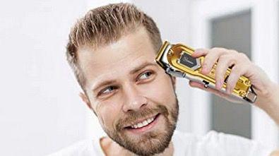 Hatteker Haarschneidemaschine schnurlos und wiederaufladbar in Gold für 25,79€ (statt 43€)