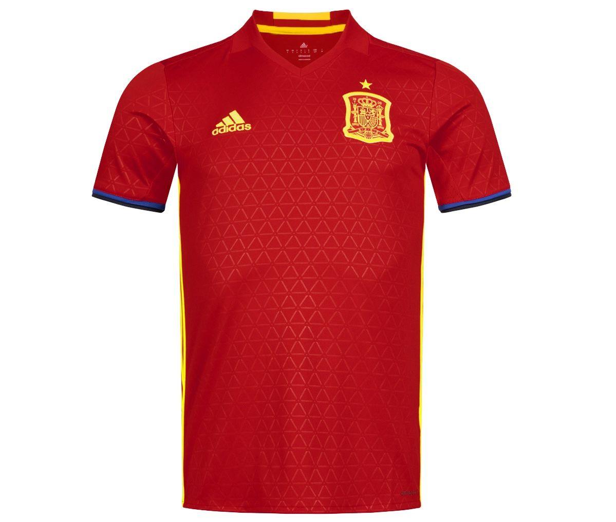 adidas Spanien Herren Heim Trikot (2015/2016) für 17,94€ (statt 24€)