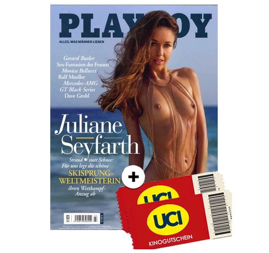 13 Ausgaben Playboy + 2 UCI Kino-Gutscheine für 19,90€