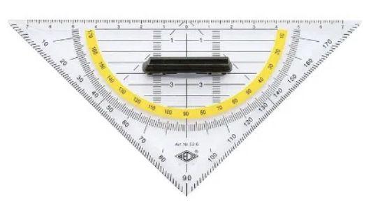 Wedo 526 Geometrie Dreieck 16cm mit abnehmbarem Griff für 0,87€ (statt 2€) – Prime