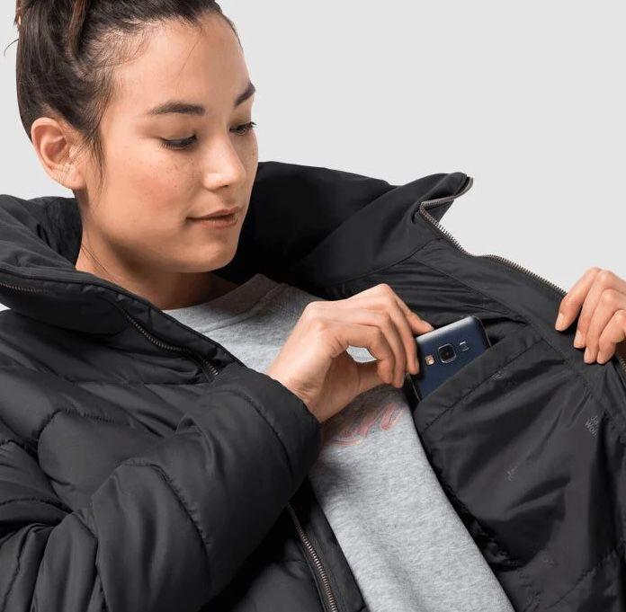 Jack Wolfskin Kyoto Long Coat Damen Steppmantel in XS & S für 118,90€ (statt 160€)