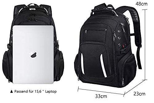 Fresion Reiserucksack wasserdicht mit 15,6 Notebook Fach inkl. USB Ladeanschluss für 20€ (statt 50€)
