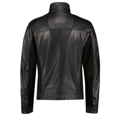 BOSS Joles Herren Lederjacke aus Glattleder in Schwarz für 257,72€ (statt 349€)