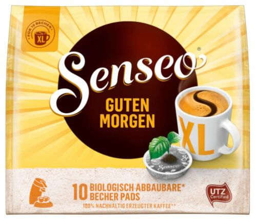 100er Pack Senseo Guten Morgen XL Kaffeepads + Dose für 16,90€