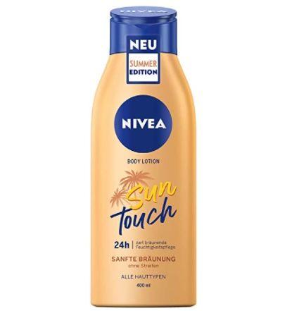 4er Pack Nivea Sun Touch Body Lotion Pflegelotion mit leichtem Bräunungswirkstoff ab 18€(statt 24€)