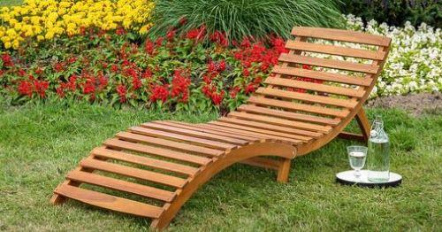 Merxx Honopu klappbare Gartenliege mit Auflagen für 79,99€ (statt 130€)