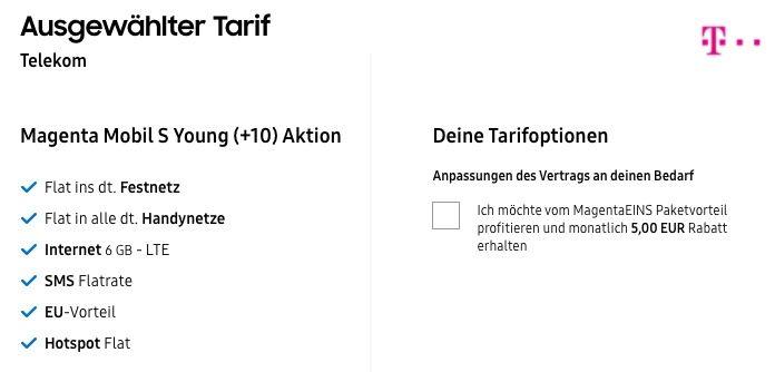 Young + Magenta: Samsung Galaxy S21 128GB + Galaxy Tab A7 für 111€ + Telekom MagentaEins S Young mit 12GB LTE/5G für 29,95€mtl.