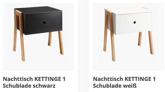 Nachttisch Kettinge mit 1 Schublade in 3 Farben für je 15€   nur Abholung