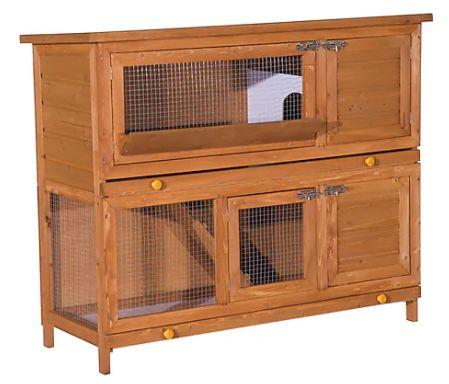 PawHut Kaninchenstall mit Doppelstock für 84,99€ (statt 170€)