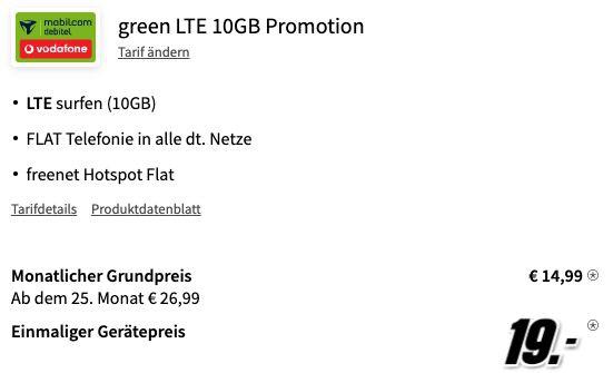 Oppo Find X3 Lite 5G für 19€ + Vodafone Allnet Flat mit 10GB LTE für 14,99€ mtl.