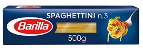 4er Pack Barilla Pasta Spaghettini n.3 (je 500g) für 2,44€   Prime