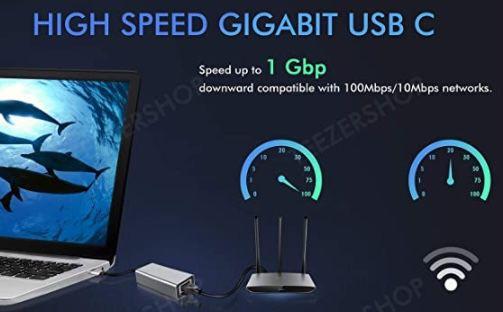 USB C auf Ethernet Adapter für 9,74€(statt 15€)   Prime