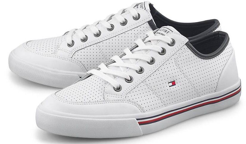 Tommy Hilfiger Core Signature Leder Sneaker für 55,98€ (statt 70€)