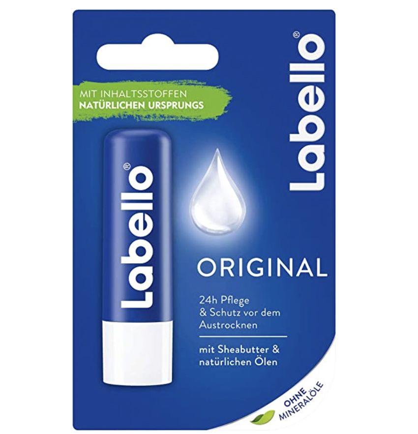 5er Pack Labello Original Lippenpflegestift für 5€ – Prime