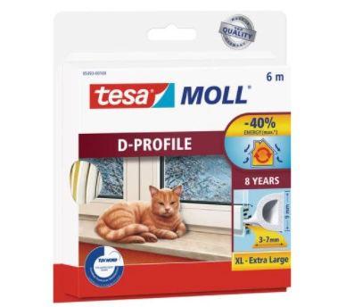 tesa moll D Profil Gummi Fenster  und Türdichtung weiss 6m für 3,25€ (statt 8€)   Prime