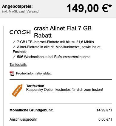 Sony Xperia 10 III 5G + Sony NC Kopfhörer für 149€ + Vodafone Allnet Flat von Crash mit 7GB LTE für 14,99€ mtl.
