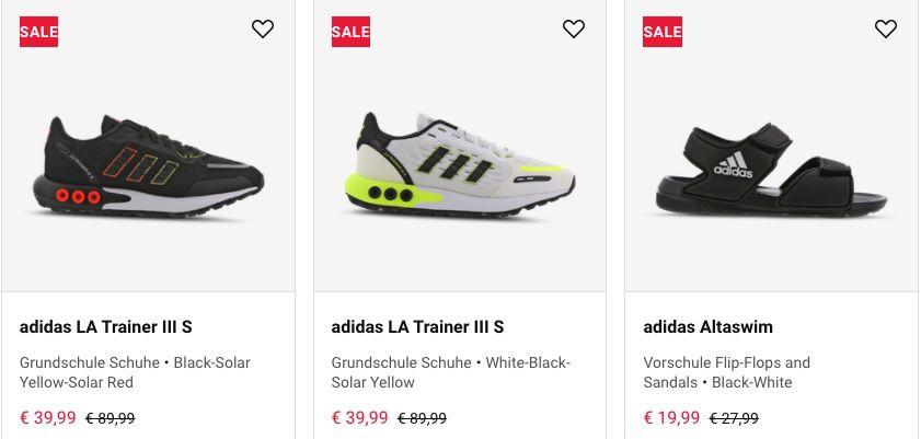 Foot Locker: bis 50% Rabatt auf adidas Kinderschuhe   z.B. adidas LA Trainer III S ab 29,99€ (statt 55€)