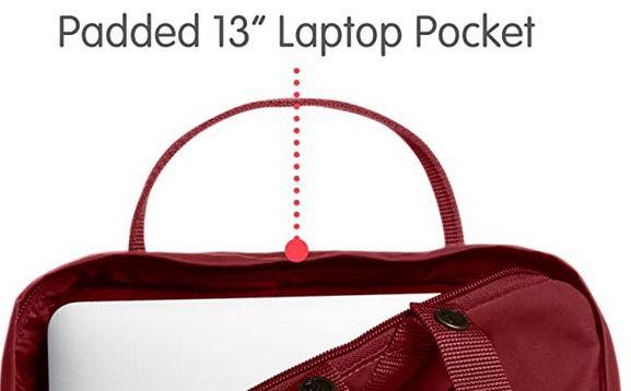 Fjällräven Unisex Laptoprucksack Kånken 13 Zoll in Ox Red für 43,92€ (statt 68€)