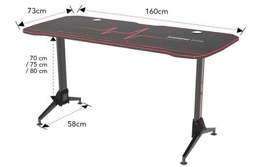 SANODESK GD01 Gaming Schreibtisch 160x75cm höhenverstellbar inkl. Tischplatte für 159,99€ (statt 209€)