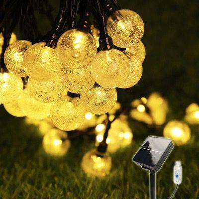 COOLAPA Solar Lichterkette 8 Meter für Außen IP65 mit 50er LEDs für 8,49€ (statt 17€)
