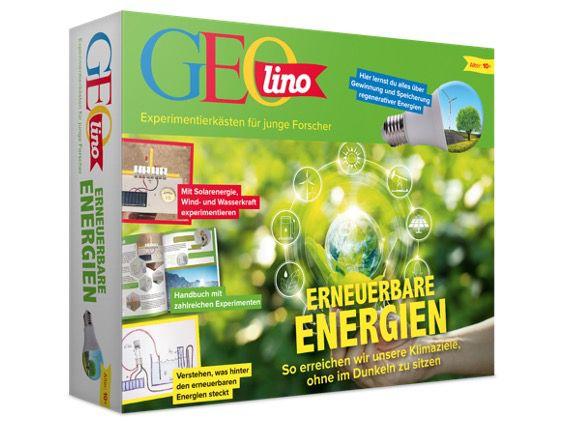 Franzis Geolino Experimentierkasten Erneuerbare Energien für 19,95€ (statt 29€)   oder 2x für 33,91€