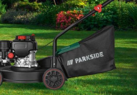 Parkside PBM 132 A1 Benzinrasenmäher mit 40 Liter Fangsack für 99,99€