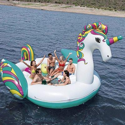 Bestway Badeinsel Float'N Fashion Riesen Einhorn 419x603x277cm für 111,64€ (statt 193€)