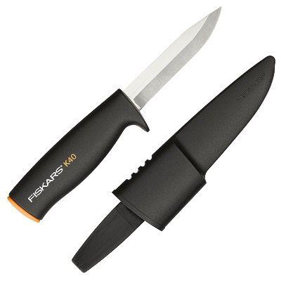 Fiskars Universalmesser K40 Länge 22,5cm inkl. Köcher in Schwarz Orange für 7,95€ (statt 12€)