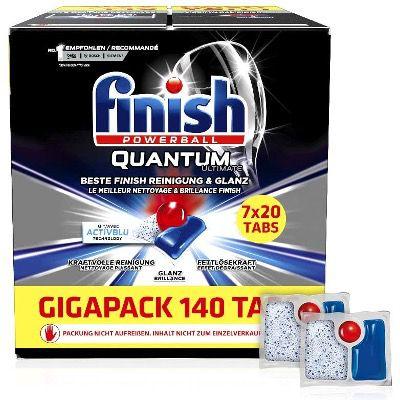 140er Pack Finish Quantum Ultimate Spülmaschinentabs für 16,70€ (statt 28€) – Prime Sparabo
