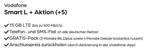 Apple iPhone 12 Mini 64GB für 4,95€ + Vodafone Allnet Flat mit 15GB LTE für 34,99€ mtl.