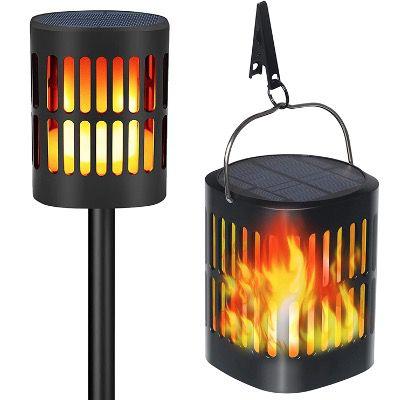 2x TEQStone LED-Solarleuchte mit Flammeneffekt IP65 und je 96 LEDs für 27,98€ (statt 40€)
