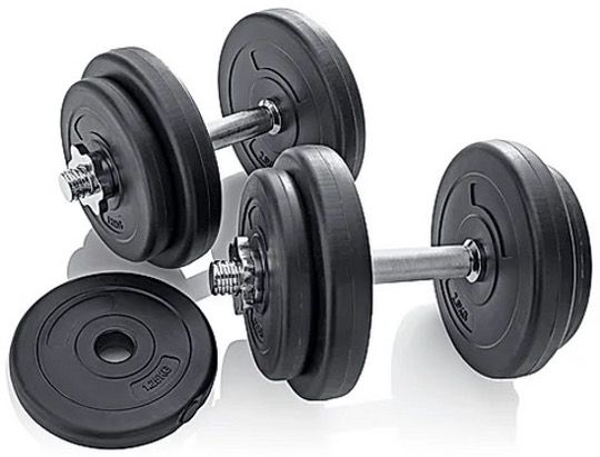Hantelset 20kg für 31,99€ (statt 50€) oder Hantelset 30kg 2in1 für 63,99€ (statt 80€)