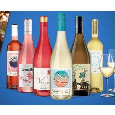 Sommergenuss Paket mit 6 Flaschen Wein inkl. 2x Schott Zwiesel Weingläser ab 24,99€ (statt 57€)