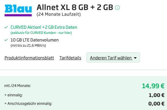 Xiaomi Redmi Note 9T für 1€ mit Blau.de o2 Allnet Flat mit 10GB LTE für 14,99€ mtl.
