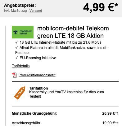 Nintendo Switch (neue Edition) für 4,99€ + Telekom Allnet Flat mit 18GB LTE für 20,99€ mtl. + 25€ eShop Gutschein