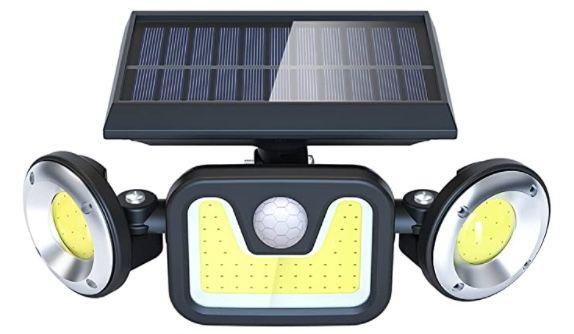 Doppelpack Ltteny LED Solarlampen für Außen mit Bewegungsmelder 450 Lumen 2400mAh IP65 für 20,78€ (statt 39€)